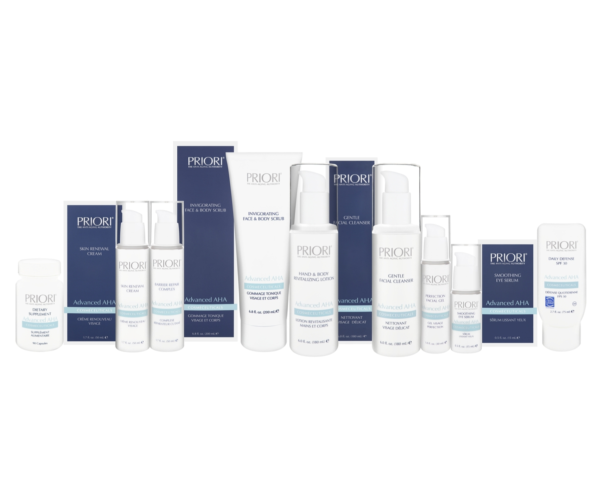 Priori Skincare Advanced AHA Product Range
