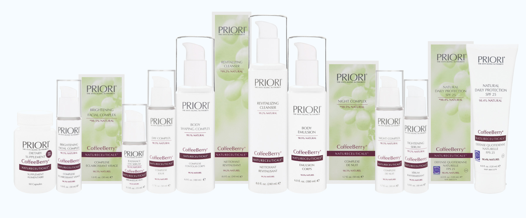 Priori Skincare CoffeeBerry Range