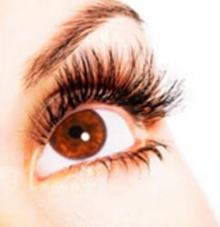 close up of eyelash enhancement