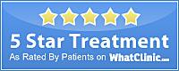 The Green Room WhatClinic-5-Star-Award